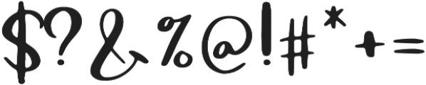 Macbarel otf (400) Font OTHER CHARS