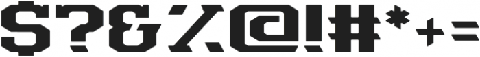 Machinist Sharp otf (400) Font OTHER CHARS