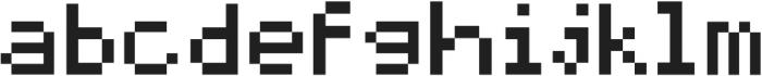 MadMattZensoisPixelated SUB3D ttf (400) Font LOWERCASE
