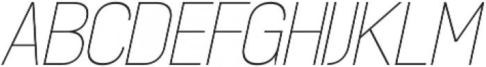 Madchen Thin Italic otf (100) Font UPPERCASE