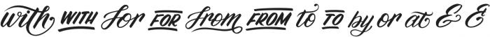 Madfish Catchwords Catchwords otf (400) Font UPPERCASE