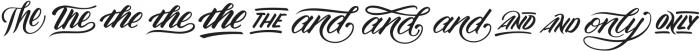 Madfish Catchwords Catchwords otf (400) Font LOWERCASE