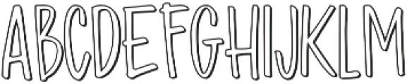 Madhouz Outline otf (400) Font UPPERCASE