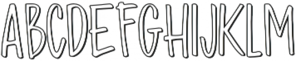 Madhouz Outline otf (400) Font LOWERCASE