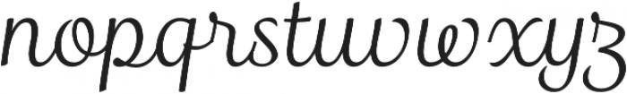 Madre Script Italic otf (400) Font LOWERCASE