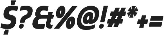 Madurai Cond Black Italic otf (900) Font OTHER CHARS