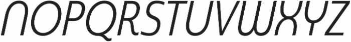 Madurai Cond Regular Italic otf (400) Font UPPERCASE