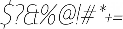 Madurai Cond Thin Italic otf (100) Font OTHER CHARS