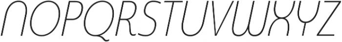 Madurai Cond Thin Italic otf (100) Font UPPERCASE