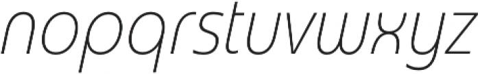 Madurai Cond Thin Italic otf (100) Font LOWERCASE