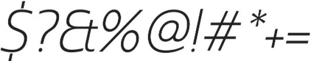Madurai Norm Light Italic otf (300) Font OTHER CHARS