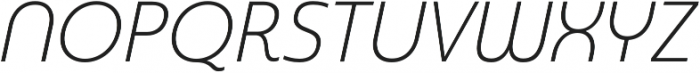 Madurai Norm Light Italic otf (300) Font UPPERCASE