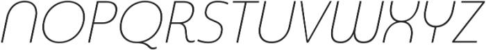 Madurai Norm Thin Italic otf (100) Font UPPERCASE