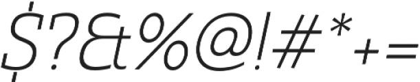 Madurai Slab Norm Light It otf (300) Font OTHER CHARS