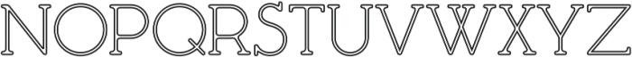 Mafond Light Stroked otf (300) Font UPPERCASE