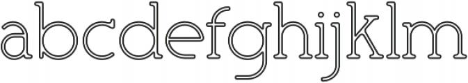 Mafond Light Stroked otf (300) Font LOWERCASE