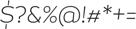 Magallanes ExtraLight Italic otf (200) Font OTHER CHARS