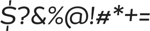 Magallanes Regular Italic otf (400) Font OTHER CHARS