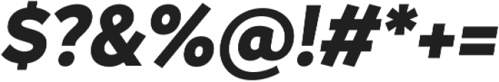 Magdelin ExtraBold Italic otf (700) Font OTHER CHARS