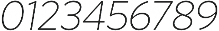 Magdelin ExtraLight Italic otf (200) Font OTHER CHARS