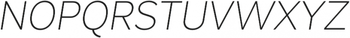 Magdelin ExtraLight Italic otf (200) Font UPPERCASE