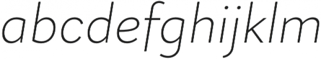Magdelin ExtraLight Italic otf (200) Font LOWERCASE