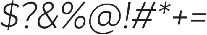 Magdelin Light Italic otf (300) Font OTHER CHARS