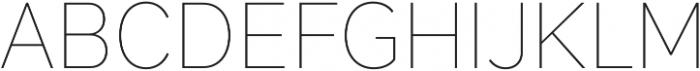 Magdelin Thin otf (100) Font UPPERCASE