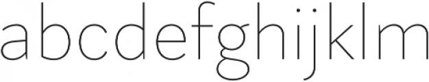 Magdelin Thin otf (100) Font LOWERCASE