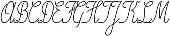 Magellan Script Regular otf (400) Font UPPERCASE