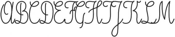 Magellan Script otf (400) Font UPPERCASE