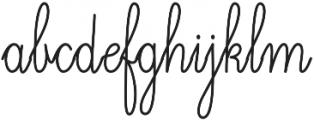 Magellan Script otf (400) Font LOWERCASE