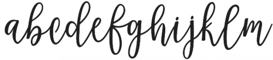 Magenta Script otf (400) Font LOWERCASE