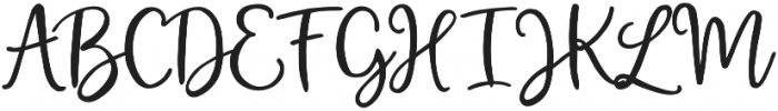 Magic winter otf (400) Font UPPERCASE