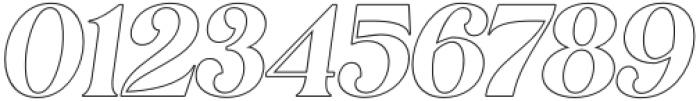 MagionaDisplayOutline-Italic otf (400) Font OTHER CHARS