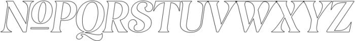 MagionaDisplayOutline-Italic otf (400) Font UPPERCASE