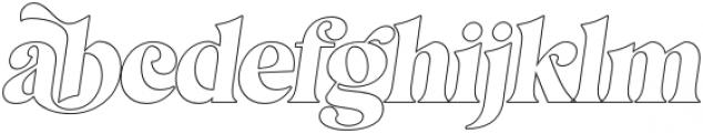 MagionaDisplayOutline-Italic otf (400) Font LOWERCASE