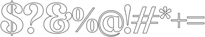 MagionaDisplayOutline-Regular otf (400) Font OTHER CHARS