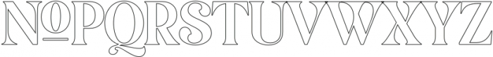 MagionaDisplayOutline-Regular otf (400) Font UPPERCASE
