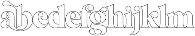 MagionaDisplayOutline-Regular otf (400) Font LOWERCASE