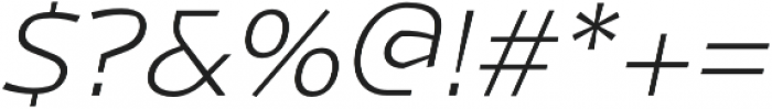 Magnetic Pro ExtraLight italic otf (200) Font OTHER CHARS