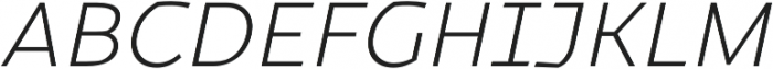 Magnetic Pro ExtraLight italic otf (200) Font UPPERCASE