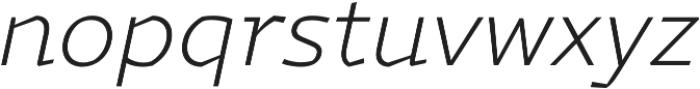 Magnetic Pro ExtraLight italic otf (200) Font LOWERCASE