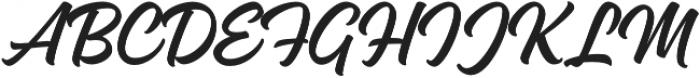 Magneton Regular Slanted otf (400) Font UPPERCASE