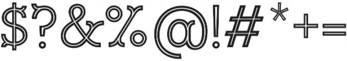 Magnifique Inline otf (400) Font OTHER CHARS