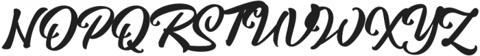 Magnison Script otf (400) Font UPPERCASE