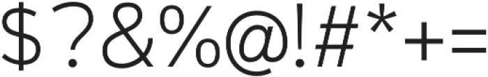 Magnum Sans Alfa Extra Light otf (200) Font OTHER CHARS