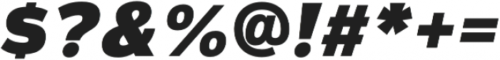 Magnum Sans Extra Black Oblique otf (900) Font OTHER CHARS