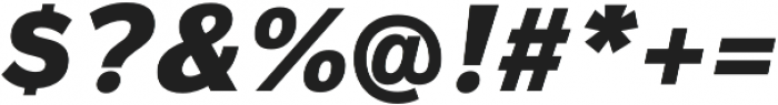 Magnum Sans Heavy Oblique otf (800) Font OTHER CHARS