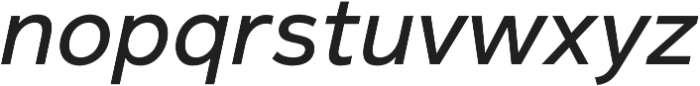 Magnum Sans Medium Oblique otf (500) Font LOWERCASE